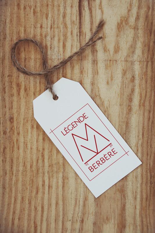 étiquette boutique Légende Berbère