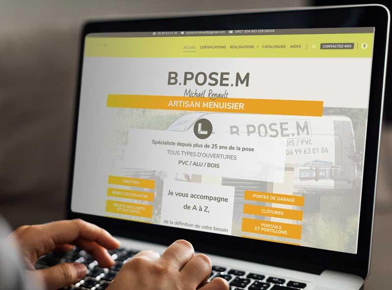 Mise en situation utilisation du site web artisan menuisier