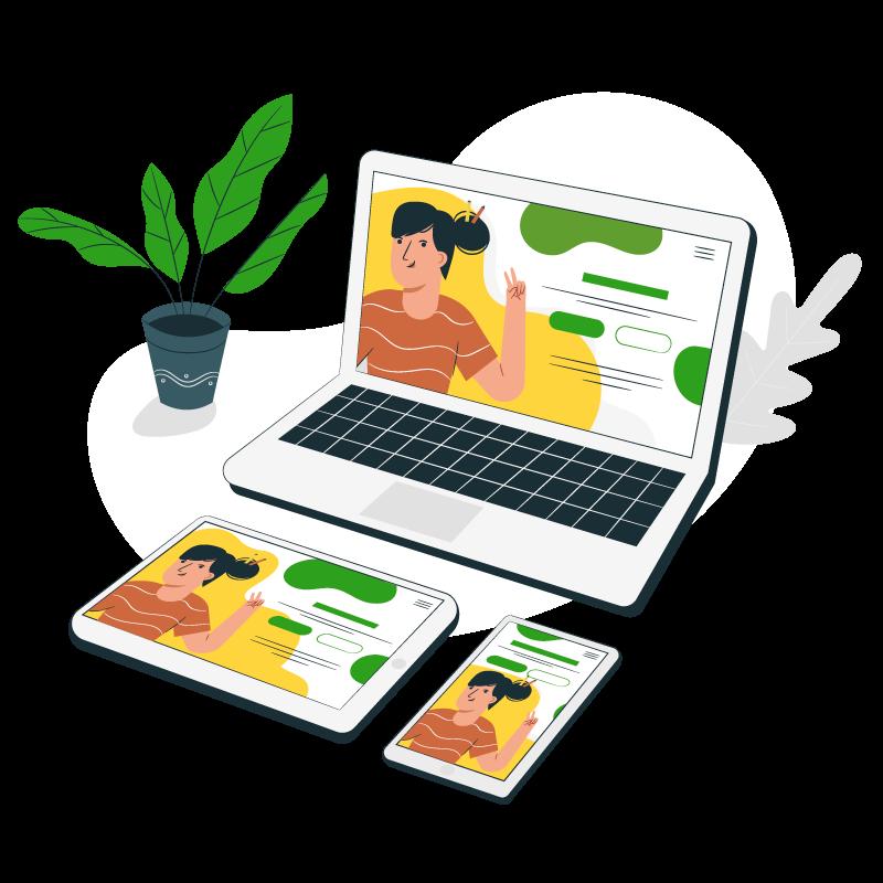 Illustration de création de webdesign
