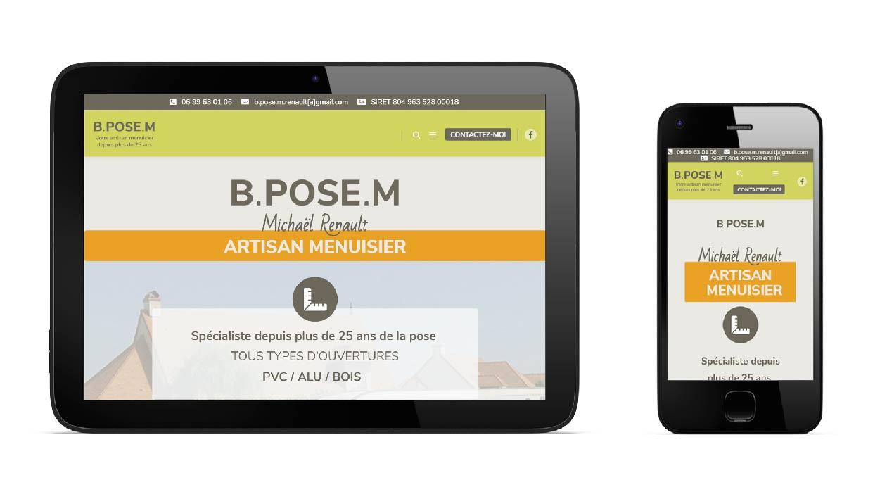Site web artisan responsive