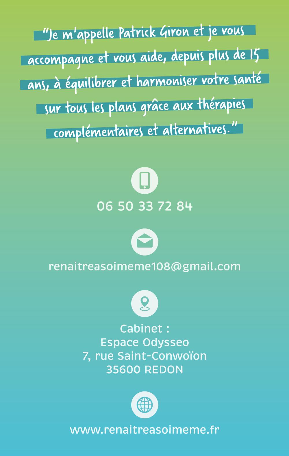 Carte de visite thérapeute