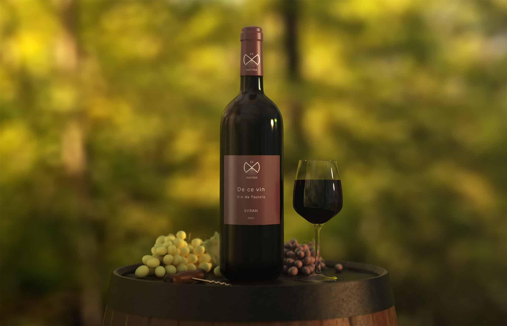 Logo sur bouteille de vin nature